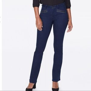 NYDJ Barbara Bootcut Jeans with Hip Zippers NWT
